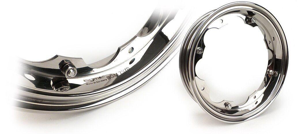 Lambretta felge edelstahl Felge -BGM PRO- Lambretta LI Serie 1-3, LI S, SX, TV Serie 2-3 – Edelstahl Poliert